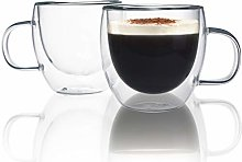 Espresso Cups, Set of 2 Chase Chic 5oz Glass