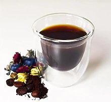 Espresso Cups Set of 6, Double Wall Glass Coffee