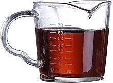 Espresso Shot Glass Cups 3-Ounce Triple Pitcher