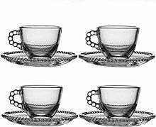Espresso Shot Glass Set of 4 - 50ml Vintage Coffee