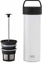 ESPRO 5116C-18WT French Press Coffee, Chalk White