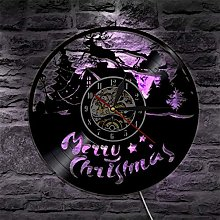 ESS 1Piece Merry Christmas Vinyl Record Wall Clock