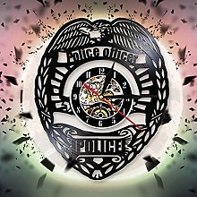 ESS Police Badge Wall Clock Cop Gifts For Men