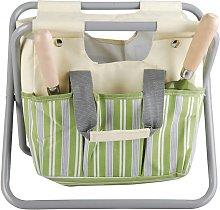 Esschert Design Garden Tool Bag and Stool Stripes