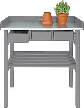 Esschert Design Garden Work Bench Grey CF29G