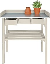 Esschert Design Garden Work Bench White CF29W