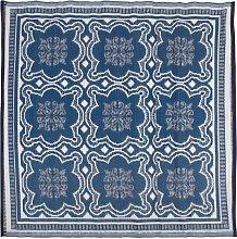 Esschert Design Outdoor Rug 151.5 cm Blue and