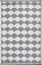 Esschert Design Outdoor Rug 180x121 cm Grey and