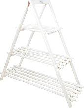 Esschert Design Plant Ladder 3-Tier Triangle White