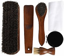 Esschert Design Wooden Boot Cleaning Kit with Foot