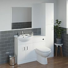 Essence - 550mm White Vanity Unit Basin Sink and