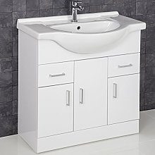 ESSENCE 850mm Bathroom Vanity Unit Storage Cabinet