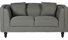 Essence Contemporary Fabric 2 Seater Sofa In Grey
