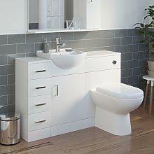 Essence - White Bathroom Vanity Unit Tall Cabinet