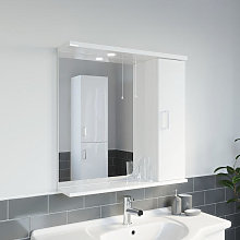 Essence White Gloss Mirror with Light - 750mm Width