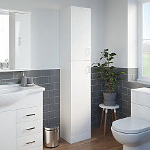 Essence White Gloss Tall Bathroom Cabinet 1900 x