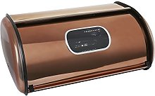 Essential Luxury Bread Bin, Roll Top with Copper