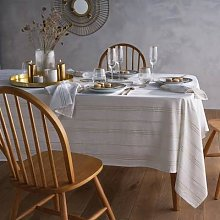 Essentielle Printed Tablecloth in Cotton/Linen by