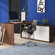 Estevez Corner Desk Ebern Designs Colour: