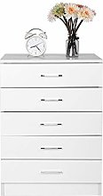 Estink Bedroom Cabinet Furniture with 5 Drawers,