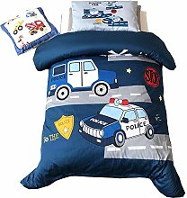 EsyDreamHome Long-Staple Cotton Police Car Toddler