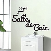 Etched Vinyl Wall Stickers Bathroom Decal