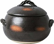 ETDWA Earthenware Rice Pot,Heat Resistant Glazed