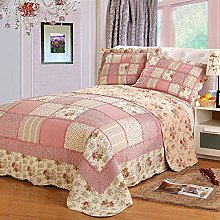 ETDWA Patchwork Bedspread Throw Double Quilting