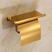 ETDWA Wall Mounted Toilet Paper Holder with Shelf