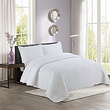ETDWA Washed Cotton Quilted Bedspread Throw