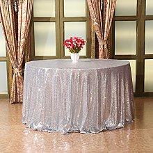 Eternal Beauty 127cm Round Sequin Tablecloth