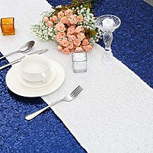 Eternal Beauty 30x243 cm White Sequin Table