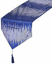 Eternal Beauty 30x305cm Sequin Blue-Silver Table