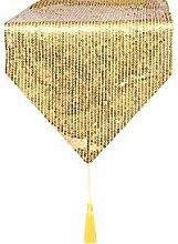 Eternal Beauty 30x305cm Sequin Gold Table Runner