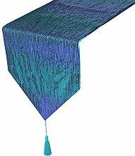 Eternal Beauty 30x305cm Sequin Teal-Purple Table