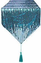 Eternal Beauty 30x305cm Sequin Teal-Silver Table