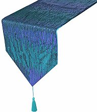 Eternal Beauty 33x213cm Sequin Teal-Purple Table
