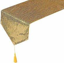 Eternal Beauty 33x274cm Sequin Gold Table Runner