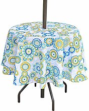 "Eternal Beauty 52"" Round Tablecloth Spillproof"
