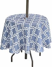 "Eternal Beauty 60"" Round Tablecloth Spillproof"