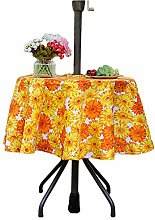 Eternal Beauty Polyester Outdoor Tablecloth Round