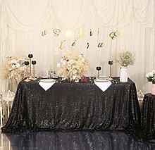 Eternal Beauty Sequin Tablecloths Rectangle Black