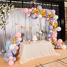 Eternal Beauty Sequin Tablecloths Rectangle Ivory