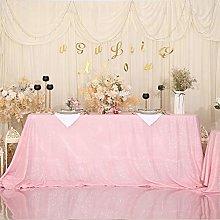 Eternal Beauty Sequin Tablecloths Rectangle Pink