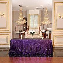 Eternal Beauty Sequin Tablecloths Rectangle Purple