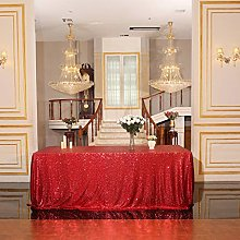 Eternal Beauty Sequin Tablecloths Rectangle Red