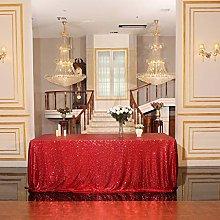 Eternal Beauty Sequin Tablecloths Rectangle Red