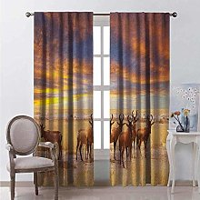 ETH Essential Window Treatment Blackout Curtains