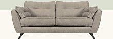 Etheredge 3 Seater Sofa Hykkon Upholstery: Linen