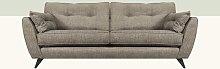 Etheredge 4 Seater Sofa Hykkon Upholstery: Bark